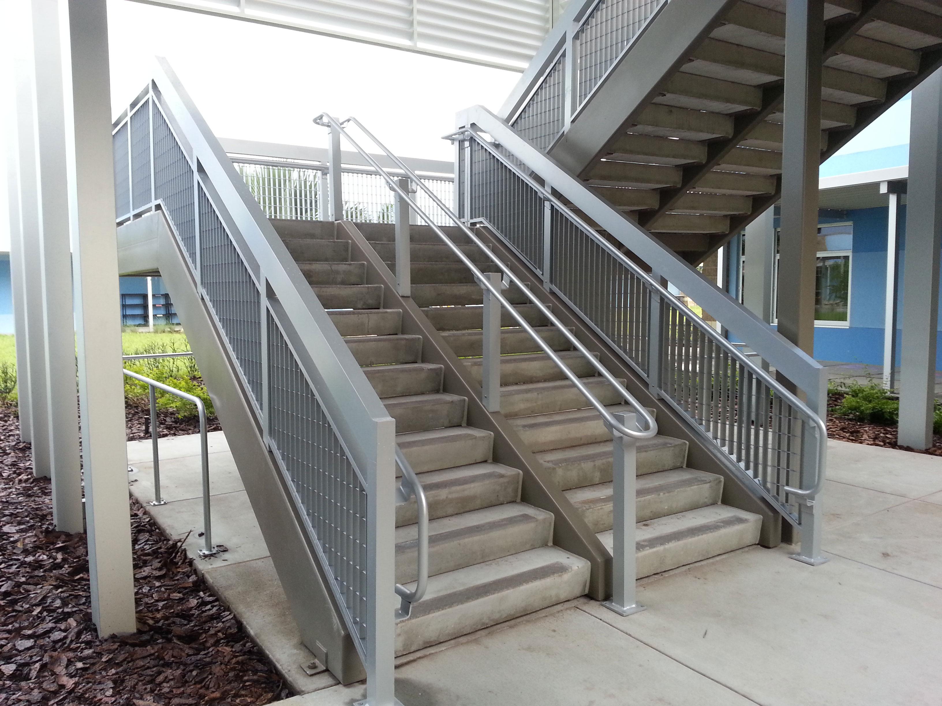 custom aluminum railings at Dawson Elementary