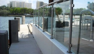 Stainless Steel Cable and Glass Railing System SPG2-2000
